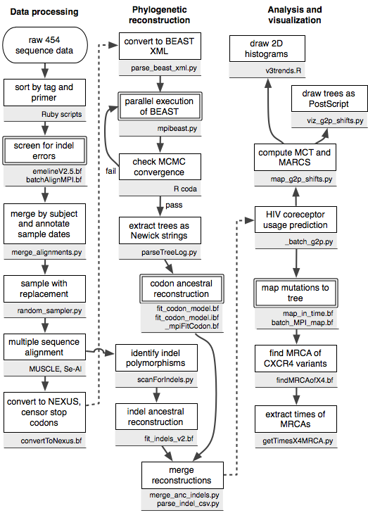 Flowchart summarizing the role of various scripts in data processing and visualization.